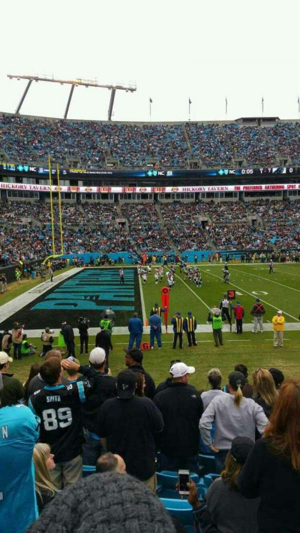 Bank of America Stadium, section: 116, row: 10, seat: 3