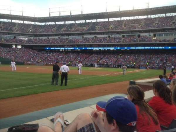 Globe Life Park in Arlington, section: 15, row: 2, seat: 1