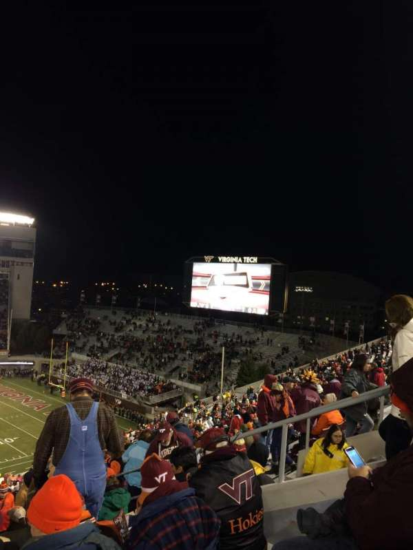 Lane Stadium, section: 29, row: 4F, seat: 13