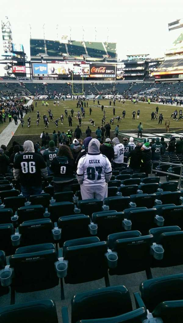 Lincoln Financial Field, section: 109, row: 16, seat: 7