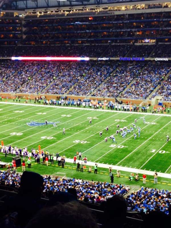 Ford Field, section: 335, row: 4, seat: 13