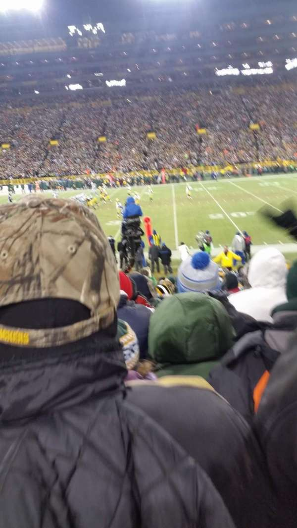 lambeau field, section: 115, row: 18, seat: 10