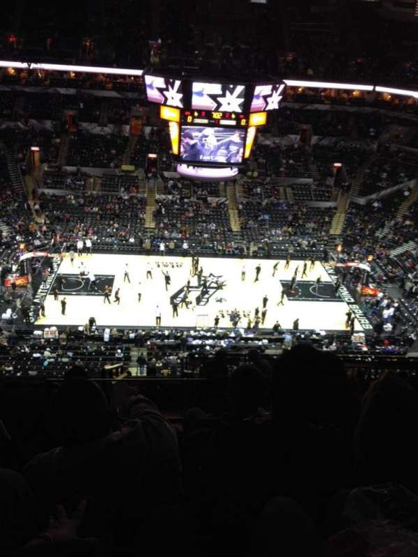 AT&T Center, section: 208, row: 12, seat: 19
