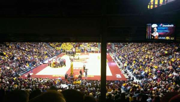 Williams Arena, section: 101, row: 29, seat: 5