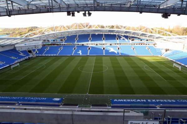 American Express Community Stadium, section: W3D, row: H