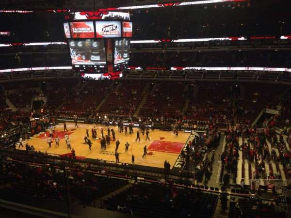 United Center, section: 315, row: 2, seat: 18