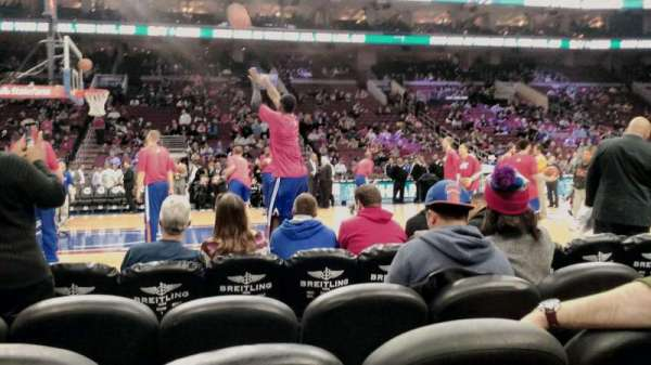 Wells Fargo Center, section: 112, row: 1, seat: 8