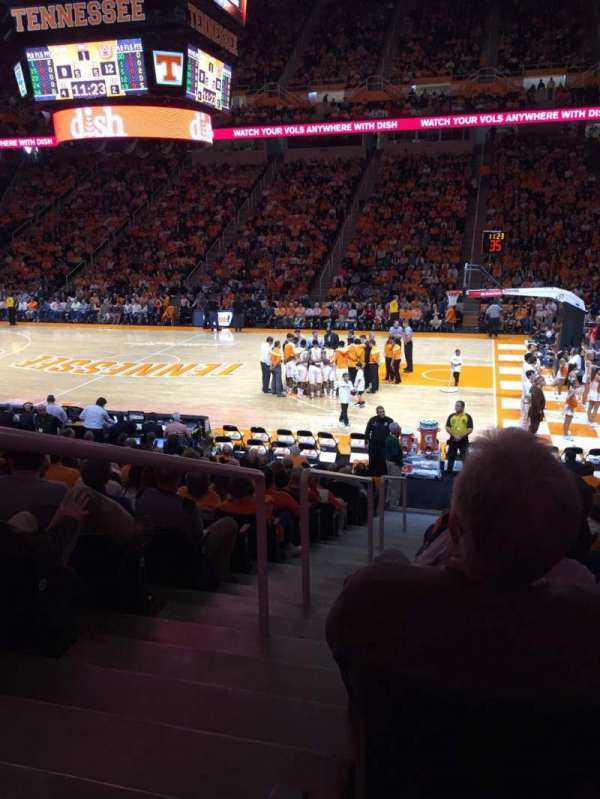Thompson-Boling Arena, section: 103, row: 15, seat: 14