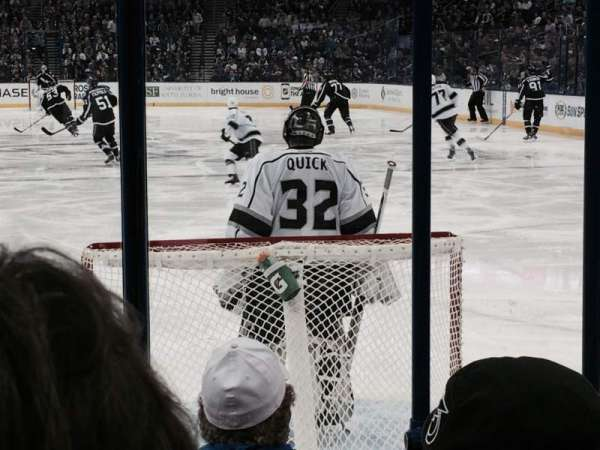 Amalie Arena, section: 124, row: E, seat: 2