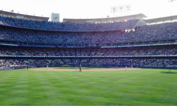 Dodger Stadium Section Right Field Pavillion Home Of Los