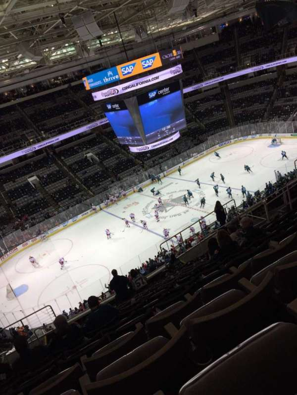 SAP Center, section: 203, row: 15, seat: 13