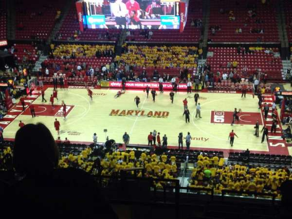 Xfinity Center (Maryland), section: 215, row: 14, seat: 17