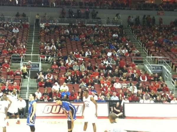 KFC Yum! Center, section: 116, row: E