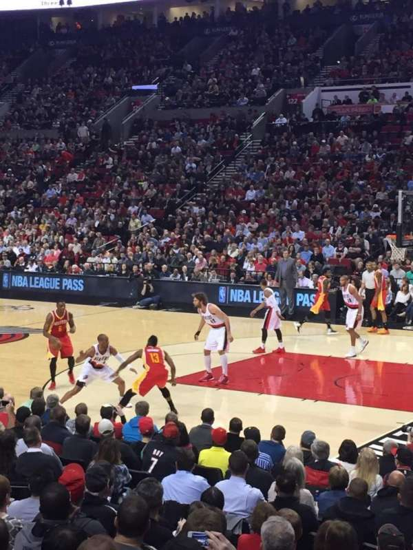 Moda Center, section: 110, row: K, seat: 11