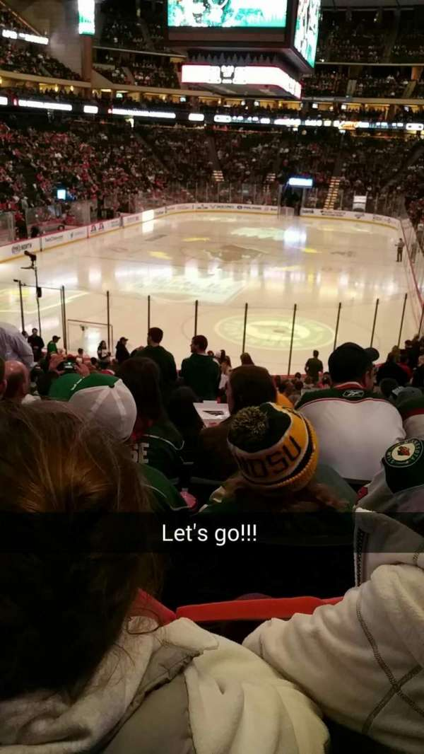 Xcel Energy Center, section: 109, row: 17, seat: 11