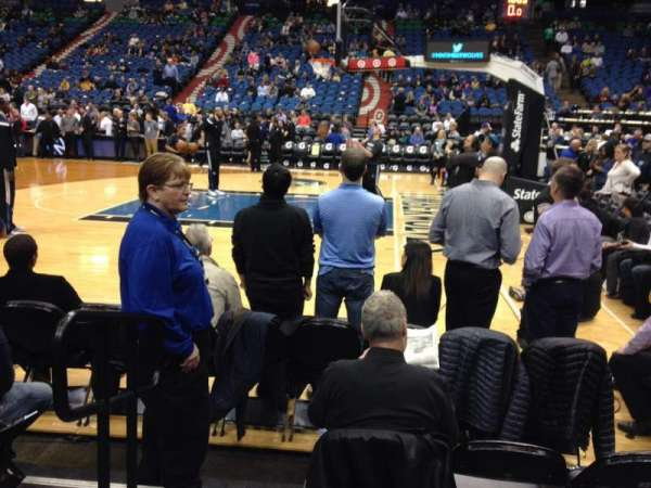 Target Center, section: 109, row: 4, seat: 15