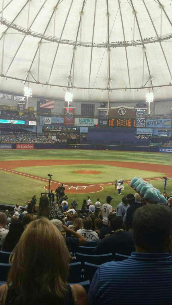 Tropicana Field, section: 102, row: HH, seat: 11