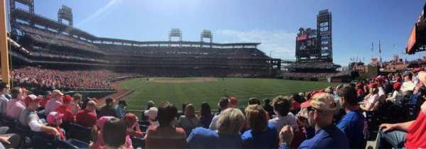 Citizens Bank Park, section: 106, row: 6, seat: 4