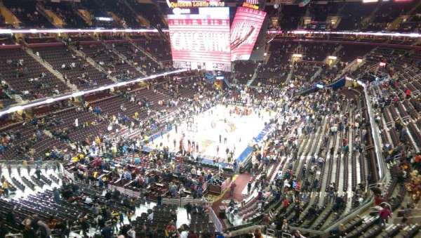 Quicken Loans Arena, section: 219, row: 1, seat: 15