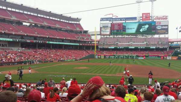 Great American Ball Park, section: 130, row: AA, seat: 8