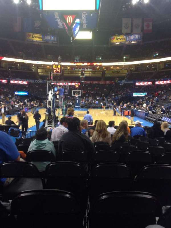 Chesapeake Energy Arena, section: 120, row: MM, seat: 8