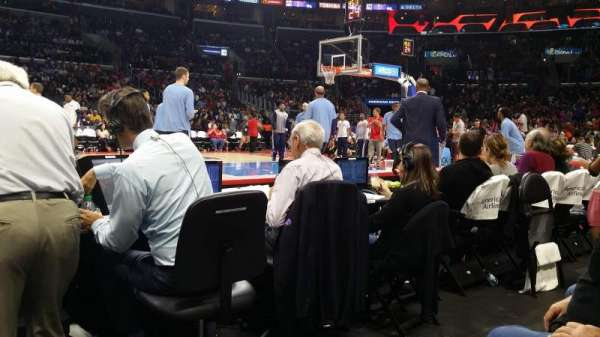 Staples Center, section: 101CT, row: B, seat: 8