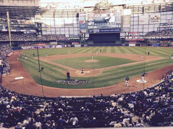 Miller Park, section: 218, row: 1, seat: 103