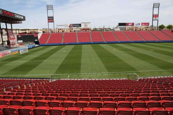 Toyota Stadium, section: 104, row: 20, seat: 10