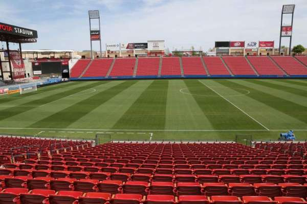 Toyota Stadium, section: 105, row: 20, seat: 10