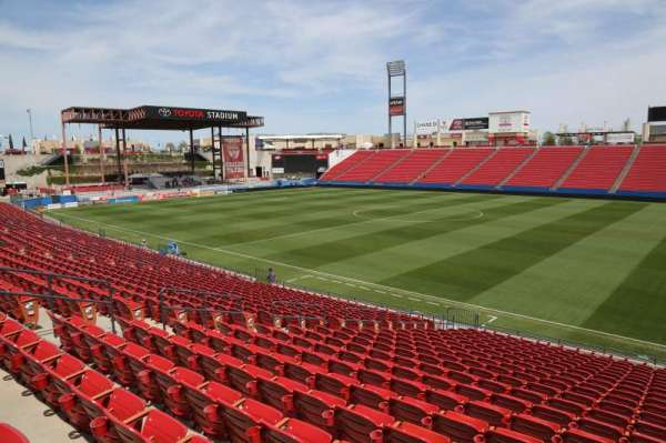 Toyota Stadium, section: 110, row: 20, seat: 10