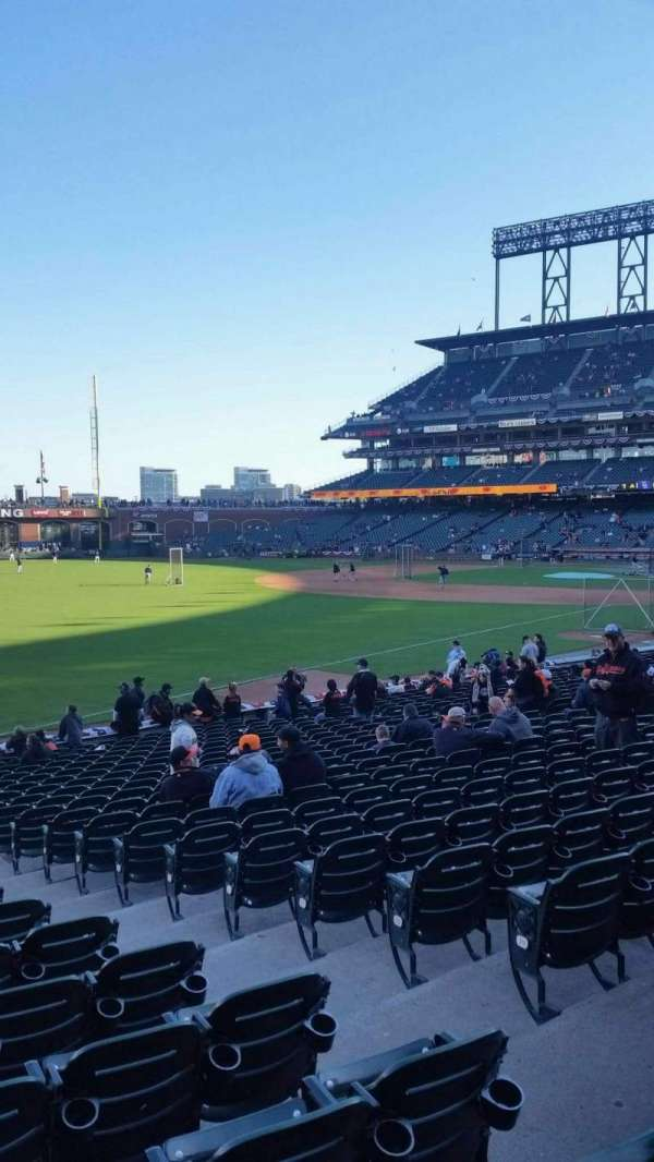 Oracle Park, section: 131, row: 23, seat: 10