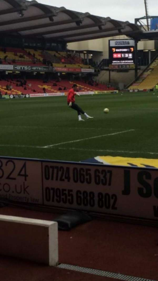 Vicarage Road, section: RS7, row: EE, seat: 126
