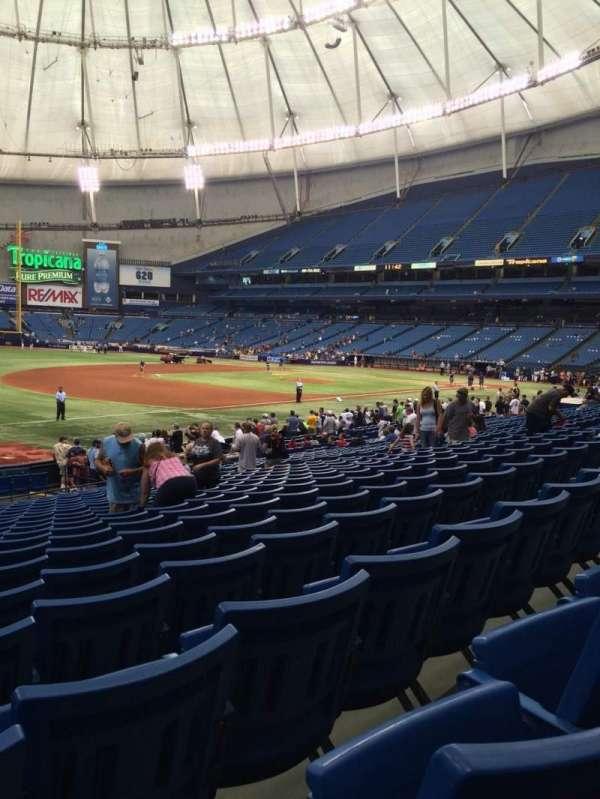 Tropicana Field, section: 127, row: AA, seat: 2