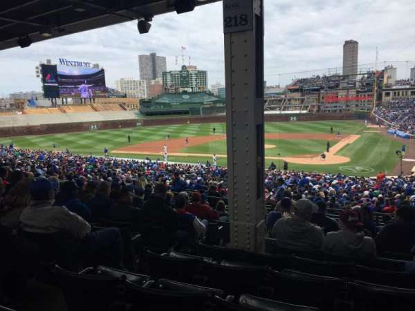 Wrigley Field, section: 218, row: 11, seat: 4