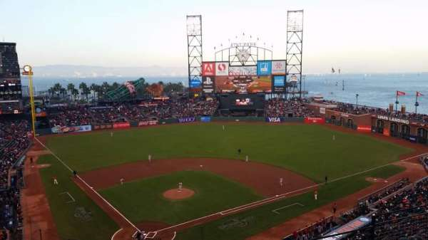 Oracle Park, section: VB313, row: E, seat: 7