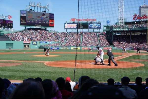 Fenway Park, section: Field Box 49, row: F, seat: 1