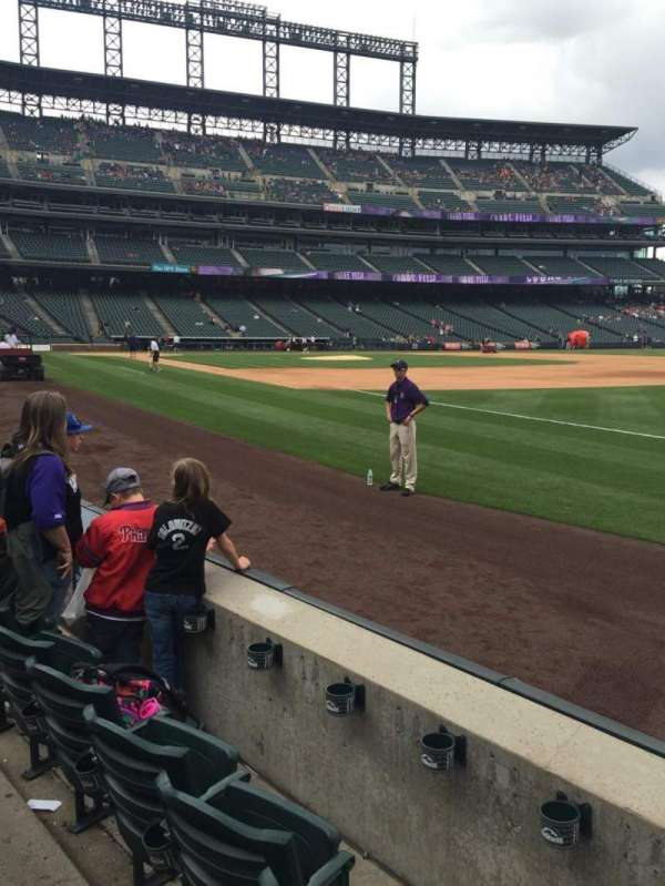 Coors Field, section: 117, row: 3, seat: 13