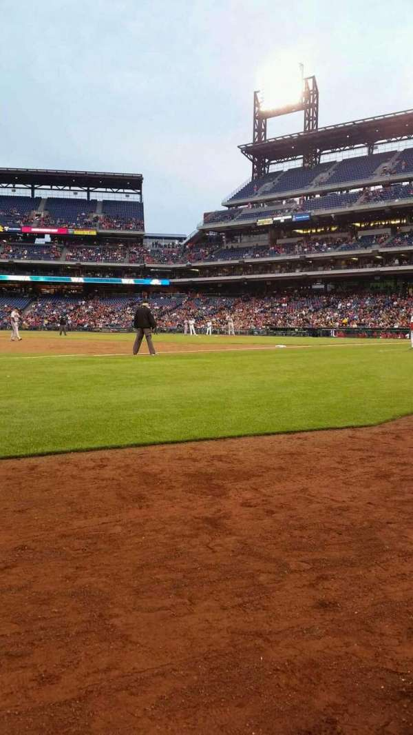 Citizens Bank Park, section: 135, row: 1, seat: 1