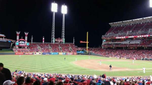 Great American Ball Park, section: 113, row: FF, seat: 16