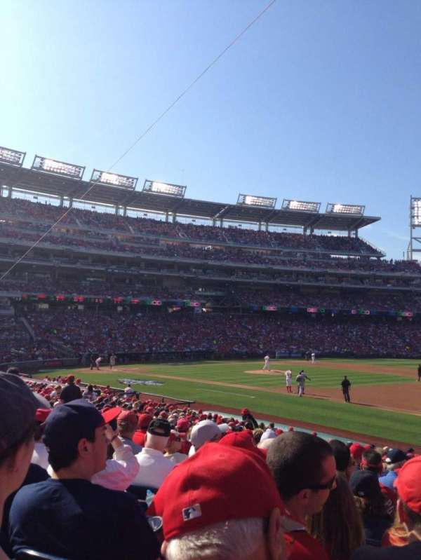 Nationals Park, section: 132, row: Z, seat: 5