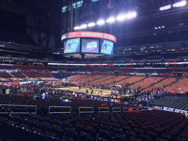 Lucas Oil Stadium, section: 109