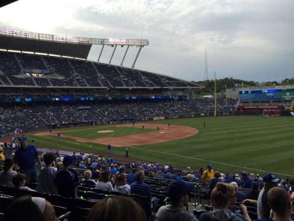 Kauffman Stadium, section: 243, row: LL, seat: 3