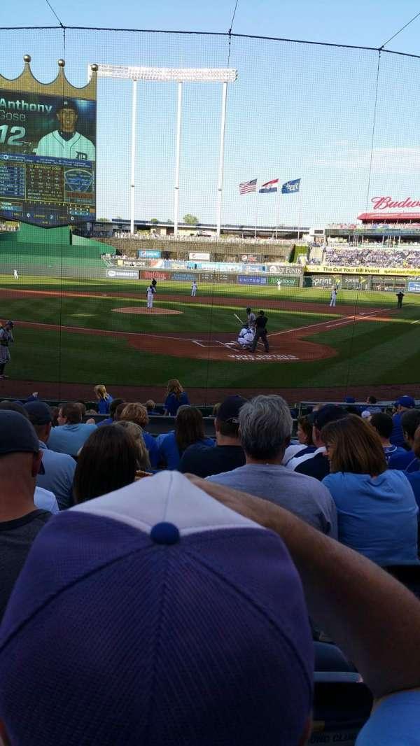 Kauffman Stadium, section: 127, row: H, seat: 6