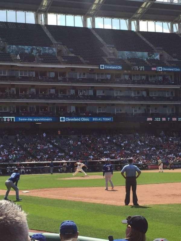 Progressive Field, section: 134, row: E, seat: 1