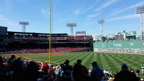 Fenway Park, section: Right Field Box 92, row: TT, seat: 5