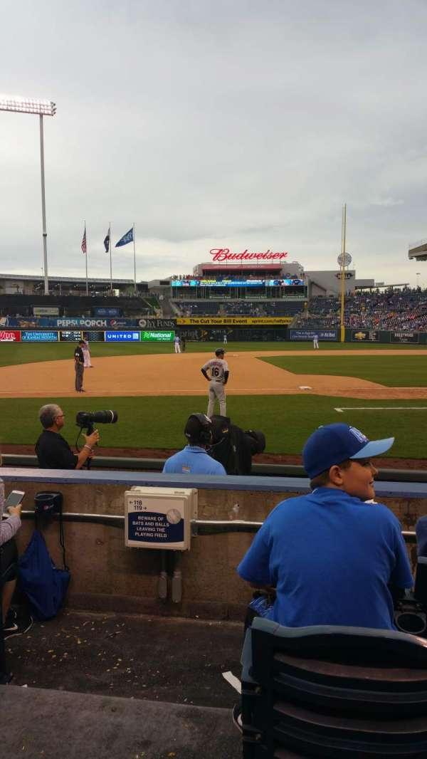 Kauffman Stadium, section: 119, row: C