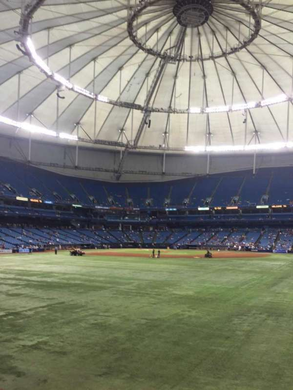 Tropicana Field, section: 150, row: G, seat: 10