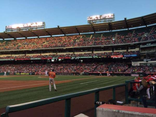 Angel Stadium, section: F109, row: A, seat: 18
