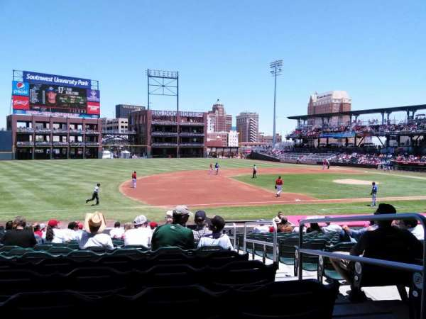 Southwest University Park, section: 120, row: S, seat: 2