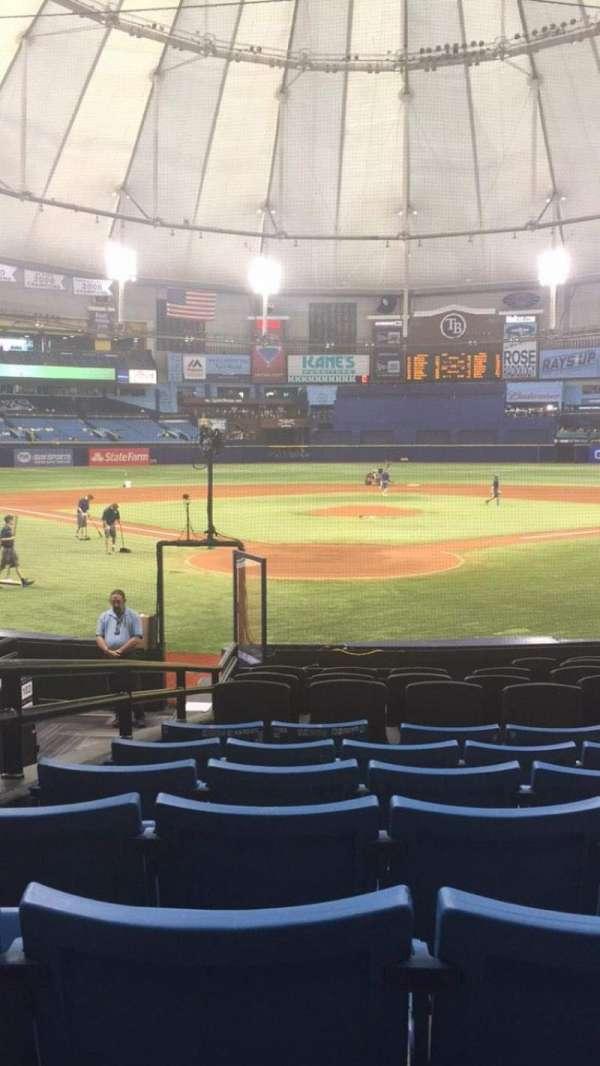 Tropicana Field, section: 102, row: S, seat: 5